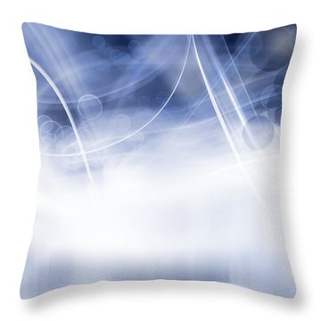 Lines And Circles Throw Pillow by Les Cunliffe