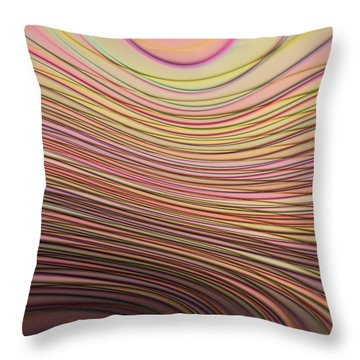 Lines And Circles -p08a Throw Pillow by Variance Collections