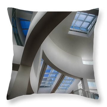 Lines And Curves Throw Pillow by Anne Rodkin