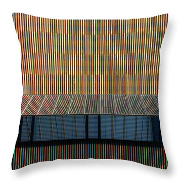 Lines - Pop Throw Pillow by Hannes Cmarits