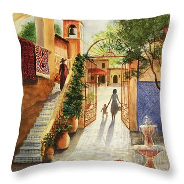 Lingering Spirit-sedona Throw Pillow by Marilyn Smith
