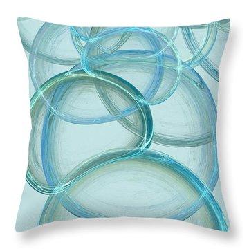 Linked Throw Pillow by Anastasiya Malakhova