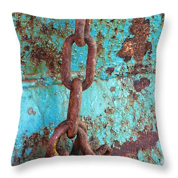 Linked Throw Pillow by Elvira Butler