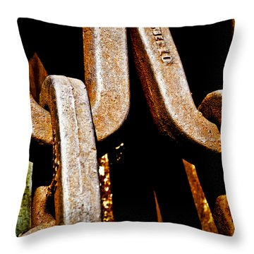 Linked Up Throw Pillow by Christi Kraft