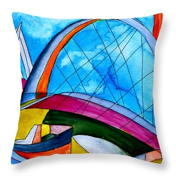 Linking Throw Pillow by Beverley Harper Tinsley
