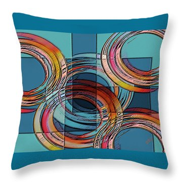 Links Throw Pillow by Ben and Raisa Gertsberg