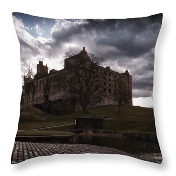 Linlithgow Palace Throw Pillow
