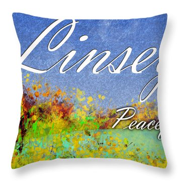 Linsey - Peaceful Throw Pillow by Christopher Gaston