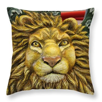 Lion Face Guitar Throw Pillow