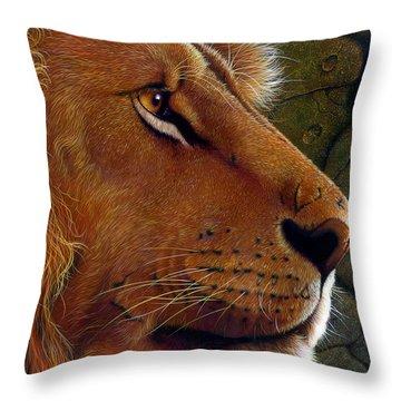 Lion King Throw Pillow by Jurek Zamoyski