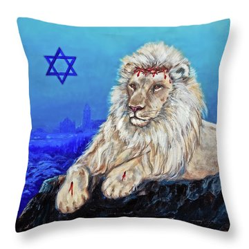 Lion Of Judah - Jerusalem Throw Pillow