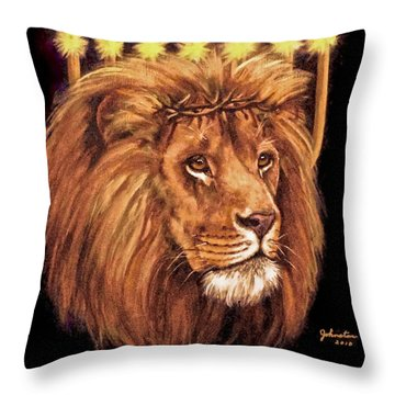 Lion Of Judah - Menorah Throw Pillow