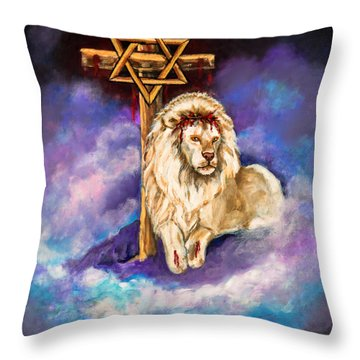 Lion Of Judah Original Painting Forsale Throw Pillow