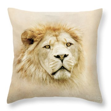 Lion Portrait Throw Pillow by Roy  McPeak