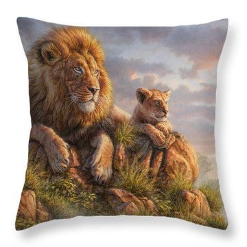 Lion Pride Throw Pillow