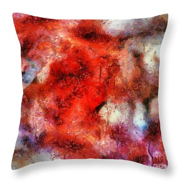 Lion Sky Throw Pillow by RC DeWinter