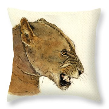Lionesses Throw Pillows