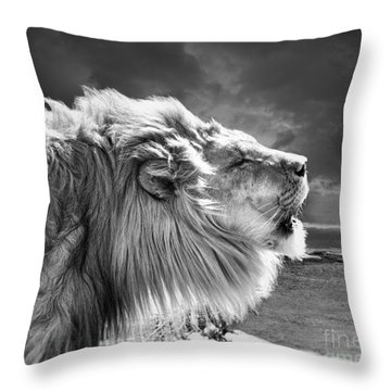 Lions Breath Throw Pillow