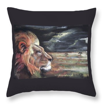 Lions Domain Throw Pillow