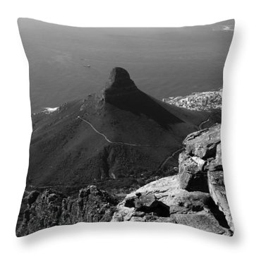 Lions Head - Cape Town - South Africa Throw Pillow