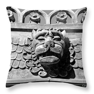 Lions Head Throw Pillow by Carsten Reisinger