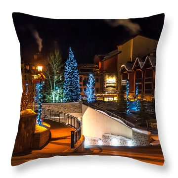 Lions Head Village Vail Colorado Throw Pillow