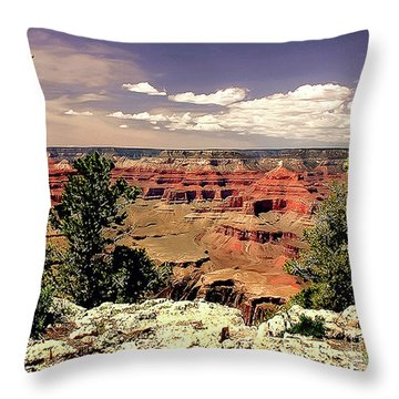 Lipan Point  Grand Canyon Throw Pillow by Bob and Nadine Johnston
