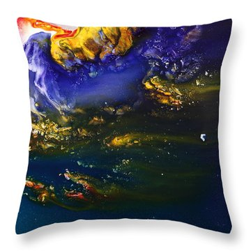 Liquid Abstract Art-dream Escape 3 Throw Pillow