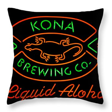 Liquid Aloha Throw Pillow