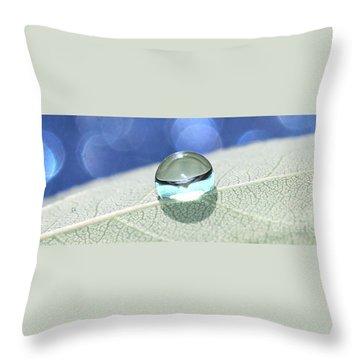 Liquid Drop Throw Pillow