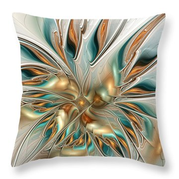 Liquid Flame Throw Pillow by Anastasiya Malakhova