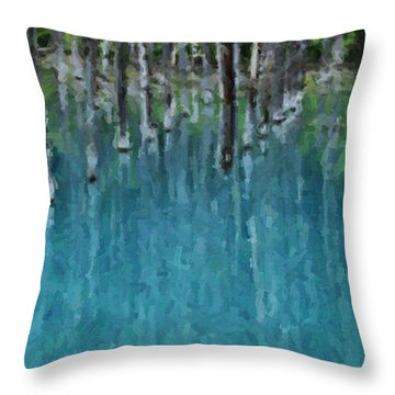 Liquid Forest Throw Pillow