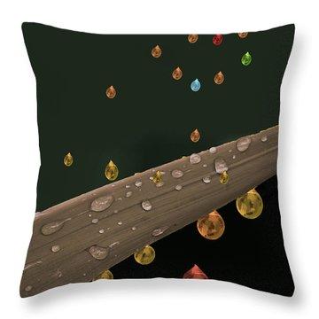 Liquid Gold Throw Pillow by Angela A Stanton