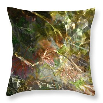 Liquid Leaves Throw Pillow
