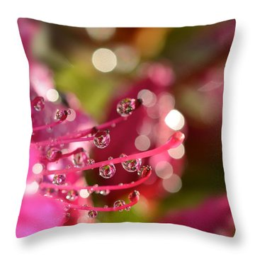 Liquid Light Throw Pillow by Lisa Knechtel