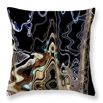Throw Pillow featuring the photograph Liquid Metal II by Pennie  McCracken