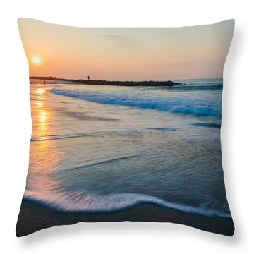 Liquid Sun Throw Pillow