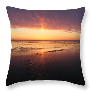 Liquid Sunrise Throw Pillow