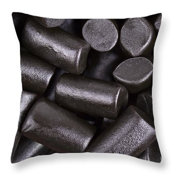 Liquorice Background Throw Pillow by Jane Rix