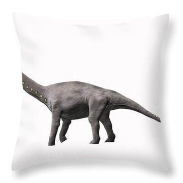 Lirainosaurus Astibae, Late Cretaceous Throw Pillow by Nobumichi Tamura