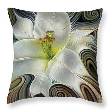 Lirio Dinamico Throw Pillow