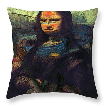 Lisa Munch Scream  Throw Pillow