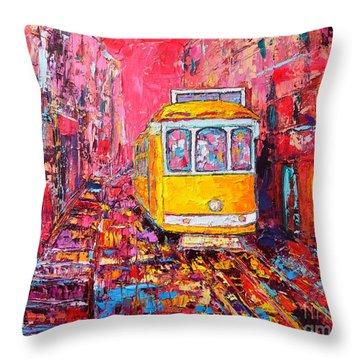 Lisbon Impression Throw Pillow by Ana Maria Edulescu