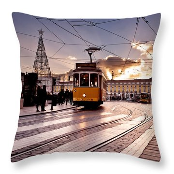 Lisbon Light Throw Pillow by Jorge Maia