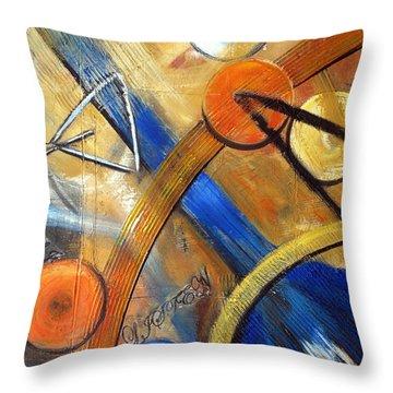Listen To The Music Throw Pillow by Roberta Rotunda