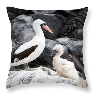 Listen Up Son Throw Pillow by William Beuther