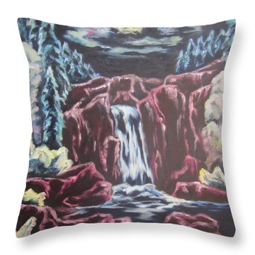 Throw Pillow featuring the painting Listening To The Land Speak by Cheryl Pettigrew