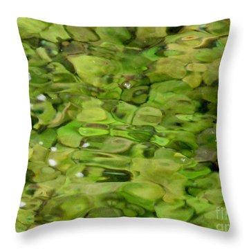 Lite Watery Green Throw Pillow