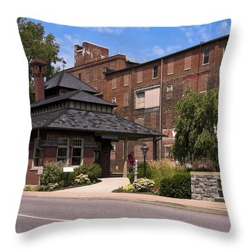 Lititz Pennsylvania Throw Pillow by Sally Weigand