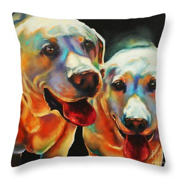 Litter Mates Throw Pillow